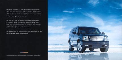 old car manuals online 2005 cadillac escalade engine control cadillac escalade brochure