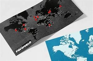 Carte Du Monde Noir : carte du monde pinworld noir ~ Teatrodelosmanantiales.com Idées de Décoration