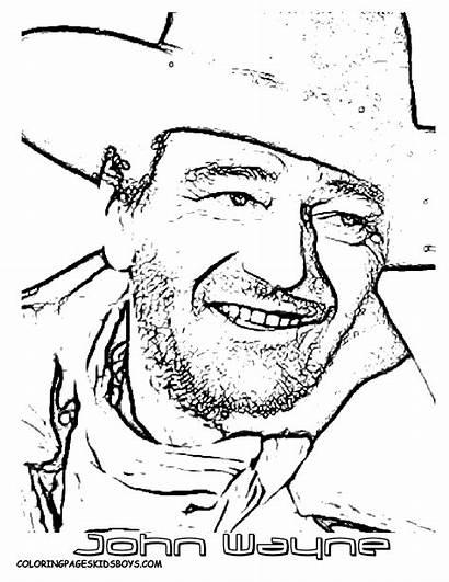 Coloring Wayne John Pages Duke Hollywood Stars