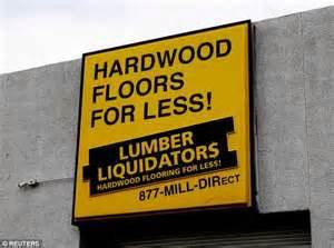lumber liquidators stock falls after 60 minutes report linking company installed floors to