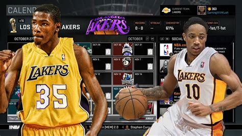 los angeles lakers roster nba  myleague youtube
