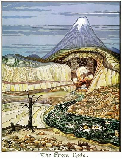 Hobbit Illustrations Tolkien Gate Tolkiens Talk Inspiration