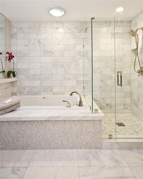 Bathroom Spa Baths Melbourne by A Spa Tub Sits Next To A Free Standing Shower In This