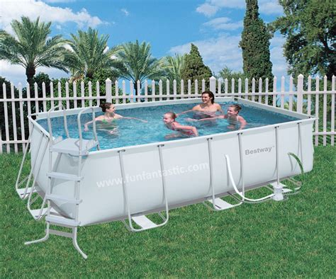 bestway ft  ft   steel pro frame rectangular pool