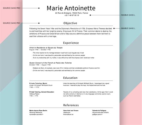 What Type Of Resume Should I Use For An Internship by What Fonts Should I Use On My R 233 Sum 233 Union Io