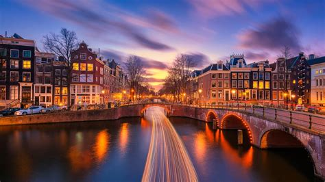 Wallpaper For Macbook Pro 13 Light Trails On The Canal In Amsterdam Wallpaper Wallpaper Studio 10 Tens Of Thousands Hd