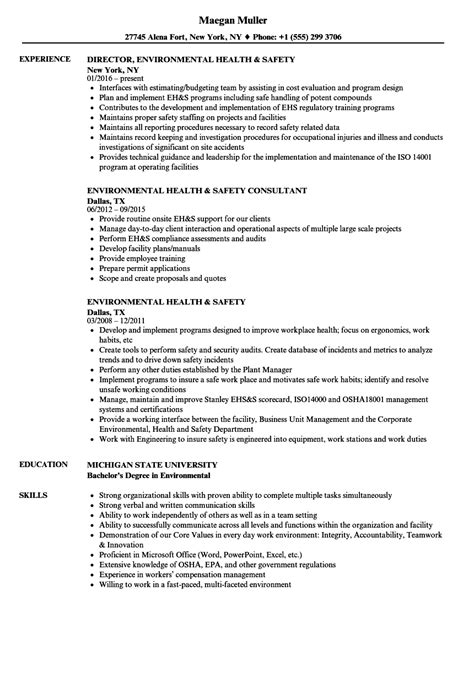 Workplace Health And Safety Officer Resume by Project Executive Resume Exle Volunteer Cv Sle