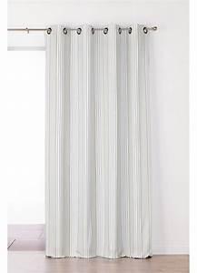 Rideaux Rayures Verticales : rideau en jacquard rayures verticales gris rouge homemaison vente en ligne rideaux ~ Teatrodelosmanantiales.com Idées de Décoration