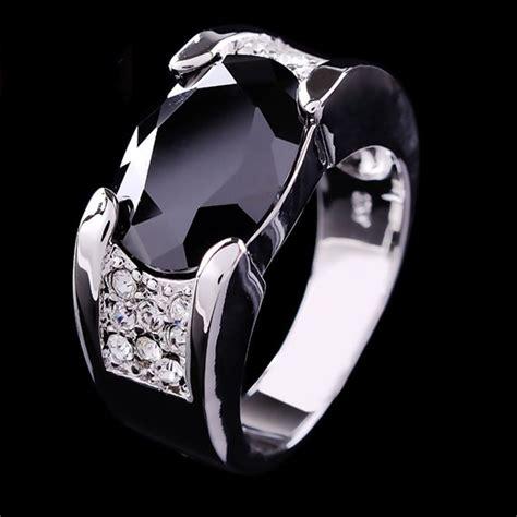 designs  black sapphire rings   men