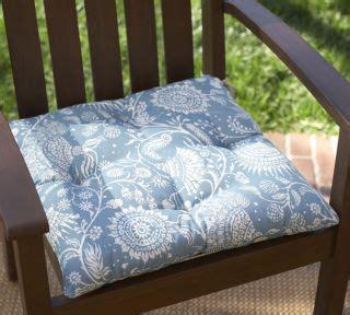 sky blue 17 inch indoor outdoor bistro chair cushion