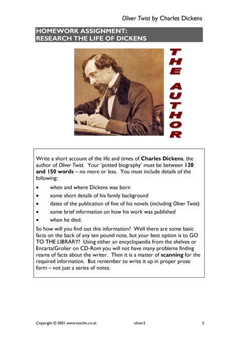 oliver twist  charles dickens search results teachit