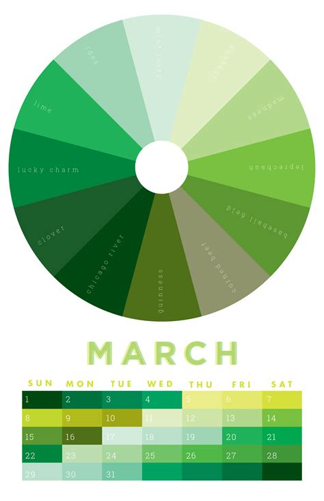 the colors of march 2015 chromophilia color wheel
