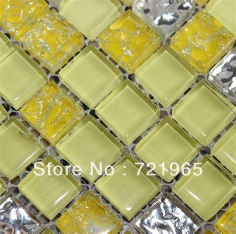 yellow glass mosaic tile backsplash kitchen wall sticker