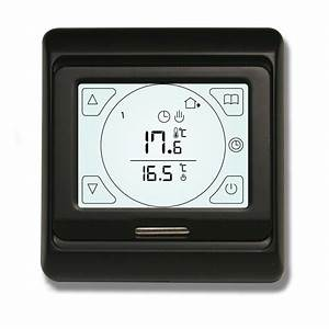 Touch Screen Black Thermostat For Underfloor Heating