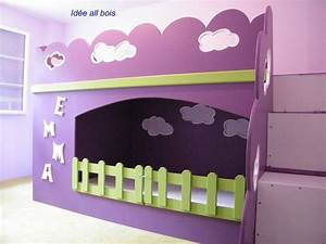 Lit Fille Original : mobilier table lit superpose fille original ~ Teatrodelosmanantiales.com Idées de Décoration