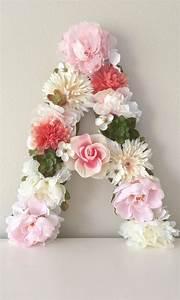 large floral letter custom flower letter nursery letter With giant flower letters
