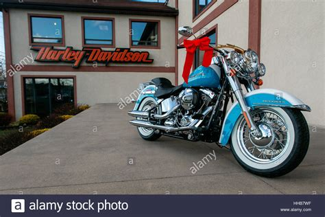 Brand New Light Blue Motorcycle With Some Christmas
