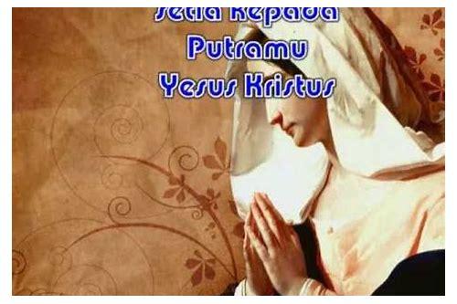 baixar leirik lagu rohani katolik salam maria