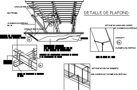 detail suspended ceiling  isometric dwg detail