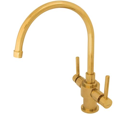 Brass Faucet Kitchen by Kingston Brass Ks7702dlls Two Lever Handles Kitchen Faucet