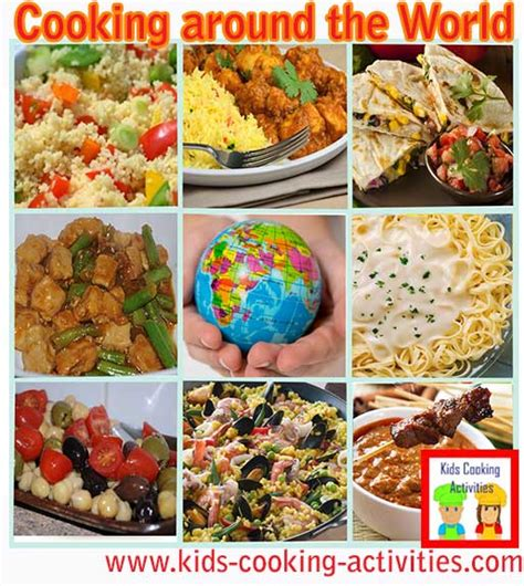 international gourmet recipes   kids world cooking