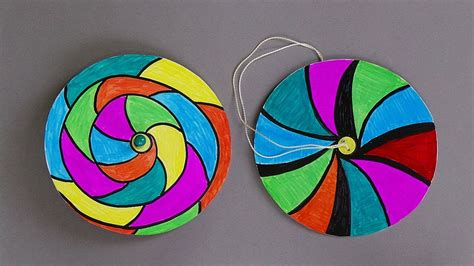 paper spinners easy paper crafts  kids