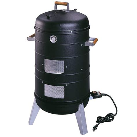 electric smokers shop southern country 1 500 watt satin black electric vertical smoker at lowes com