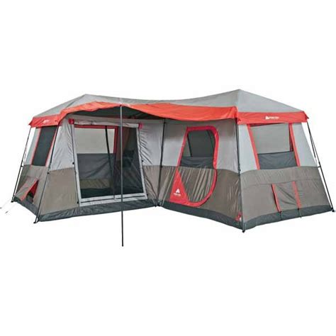 ozark trail 12 person instant cabin tent with screen room shoplocal