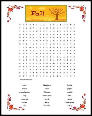 letters word search themes answers and cheats fall themed word search free printable page for