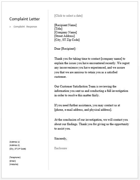 sample response letter  sample letters