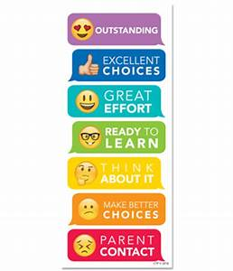 Creative Teaching Press - Emoji Fun Desktop Behavior Clip