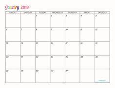 printable blank monthly calendars
