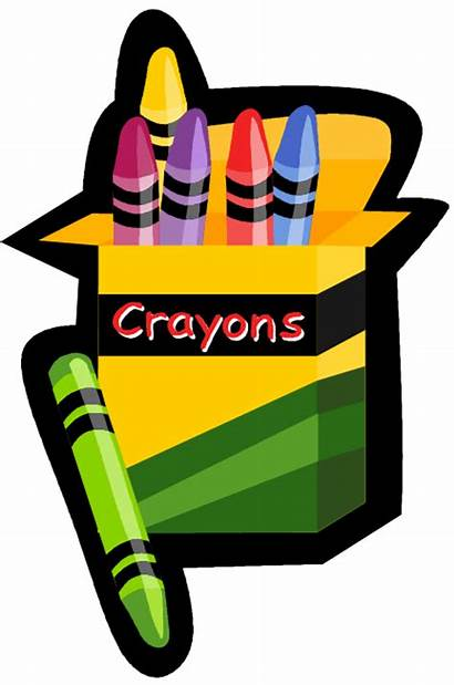 Clip Supplies Class Clipart Craft Crayon Classes