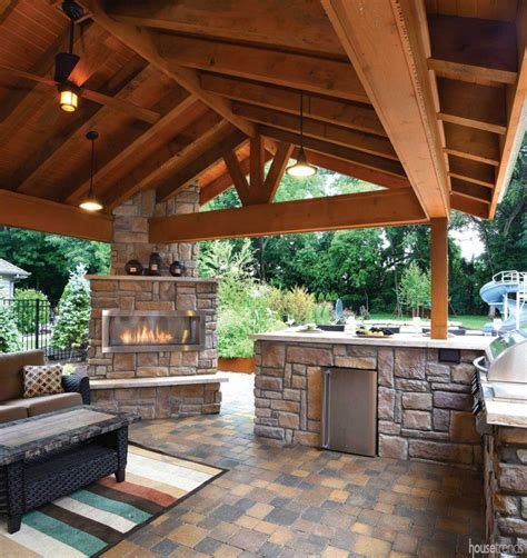 18+ Nice-Looking Outdoor Kitchen House