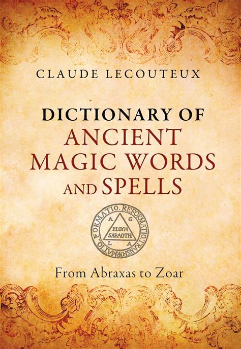 dictionary  ancient magic words  spells book