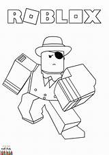Coloring Roblox Boys Avatar Sheets Drawing Credit sketch template