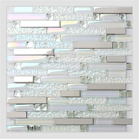 buy iridescent white glass mixed