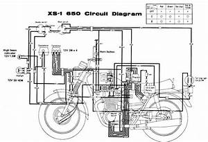 Circuit Diagram Yamaha Motorcycle Series Xs 1 650  61473