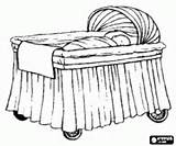 Crib Coloring Pages Cot Cartoon Drawing Printable Infant Bed Template Skirts Decorated Sketch Ways Sell Games Getdrawings sketch template