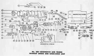 American Flyer Locomotive 300 Parts List  U0026 Diagram