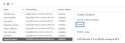 Office 365 Archive Mailbox by Enable Archive Mailboxes In The Office 365 Security