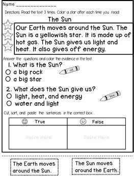 Reading Comprehension Passages (1st Grade) | TpT Language