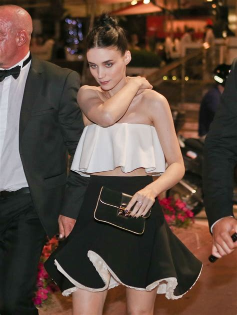 cannes cuisine rooney mara leaves baoli restaurant in cannes
