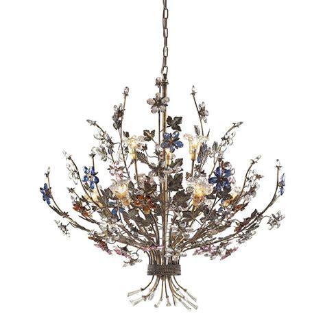 ceiling mount chandelier titan lighting brillare 9 light bronzed rust ceiling mount
