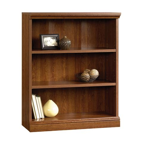 Bookcases Cherry Finish by Sauder Camden County 3 Shelf Bookcase Planked Cherry