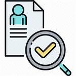 Icon Check Screening Worker Transparent Pngio Cv