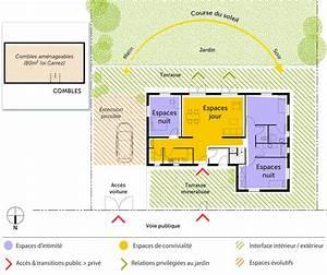 plan maison 3 chambres et 2 salles de bain ooreka With plan maison entree sud 3 plan maison moderne en u ooreka