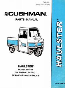 Cushman Cart Model 898336 8410 Diagram