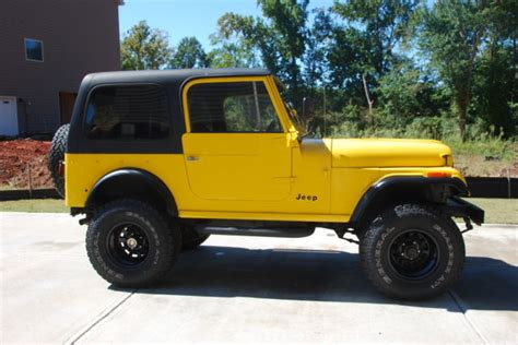 cj jeep yellow cj 7 yellow black 4x4 classic jeep cj 1976 for sale