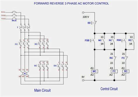 Forward Reverse Phase Motor Control Circuit Diagram